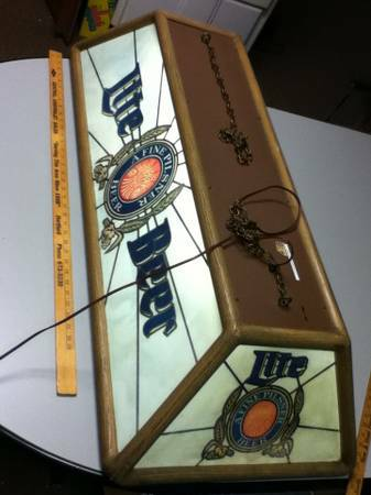 Vintage Miller Lite Pool Table Light - $250 (KilleenHarker Heights)