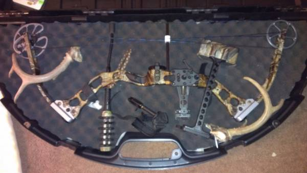 G5 QUEST HAMMER COMPOND BOW 70LBS W ARROWS AND CASE(HUNT READY) - $600 (KILLEEN)