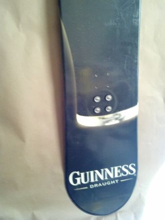 Guinness snowboard - $100 (HH)