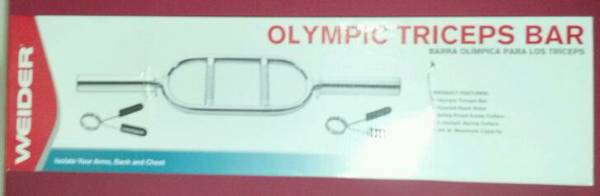 Weider Olympic Triceps Weight Lifting Bar Weightlifting - $20 (Killeen)