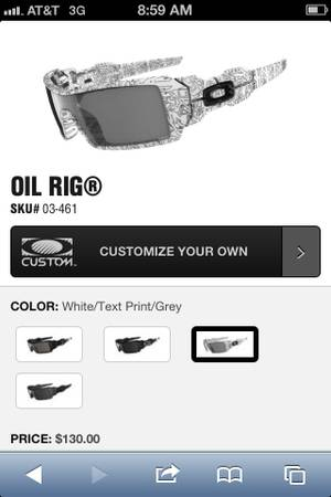 Oakley oil rig subcglasses $70 - $70
