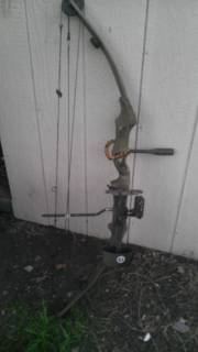 Bear Whitetail II compound bow with extras (left hand) - $65 (Harker Heights)