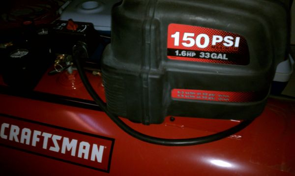 Craftsman 33 Gallon Horizontal Portable Air Compressor - $350 (Harker Heights)