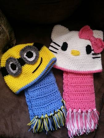 handmade crochet hats - $15 (copperas cove)
