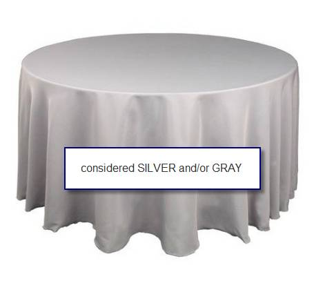120 Round SilverGray Tablecloths - $5 (Harker Heights, Temple)