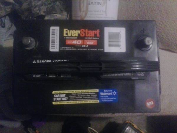 Everstart Plus Battery - $40