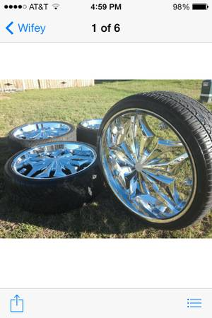 26 inch lexani luxury rims 6 lug set