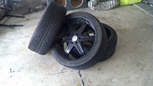 3 22 Milanni Rims Black Blades - $250 (killeen)