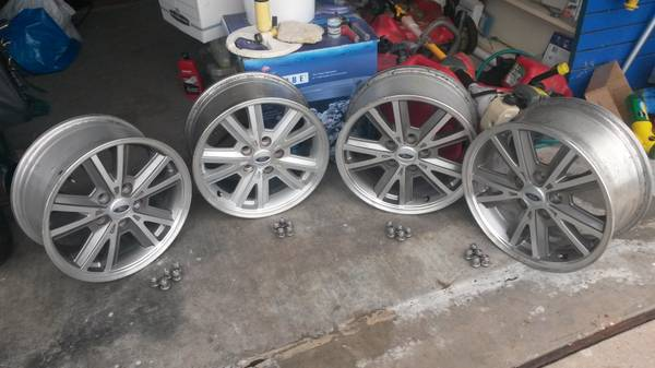 Stock Mustang 16 x 8 wheels - $250 (Copperas Cove, TX)