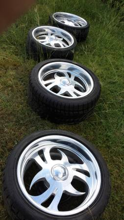 billet rims and tires chevy 6 lug - $400 (Killeen)
