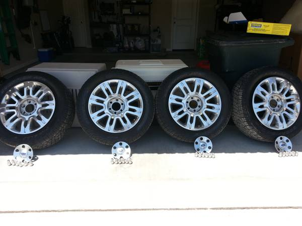 Must Sell Stock Rims and Tires of my 2012 Platinum F150 - $1600 (Harker Heights)