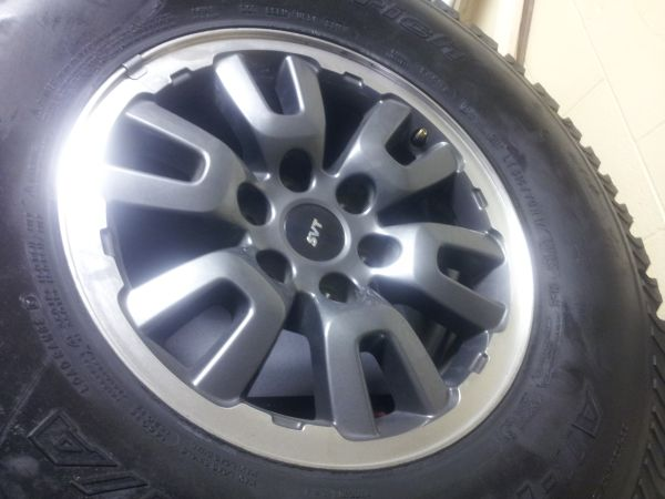 Ford Raptor factory rims and tires - $400