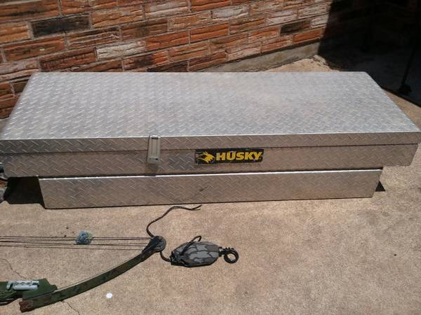Husky Diamond Plate Tool Box - $50