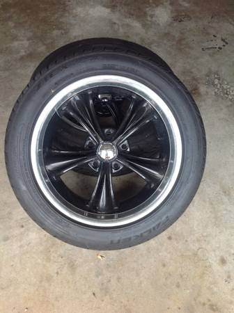 2 Boss 338 wheels with Tires (Black) - $300 (Belton)
