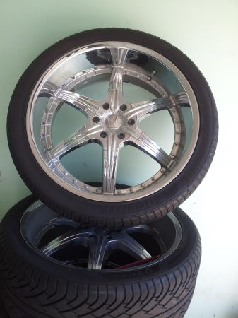 24 inch 6 lug rims n brand new tires - $1000 (killeen willow springs area)