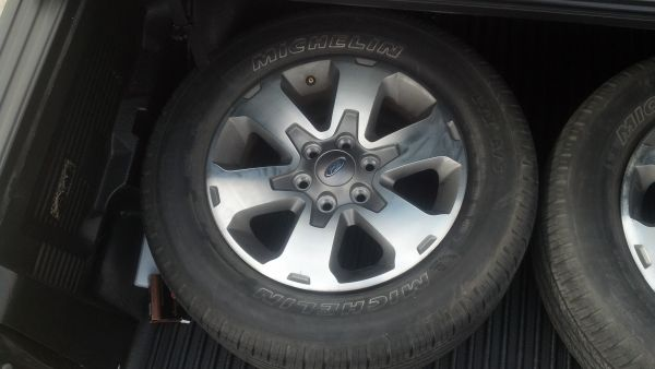 4 18 Ford F150 tires and stock rims - $400 (FT Hood)