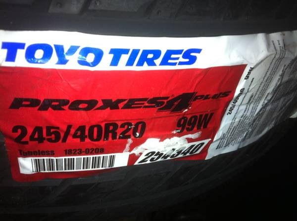 Toyo Proxes 4 Plus Tires New 1 pair 20 inch - $250 (Georgetown )