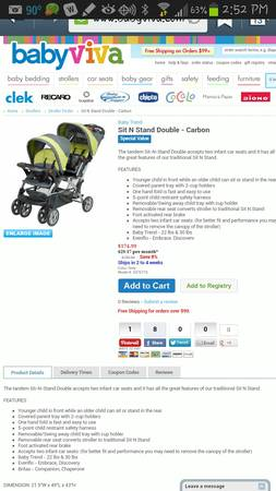 baby trend sit-n-stand Plus Double stroller - $100 (Copperas Cove)