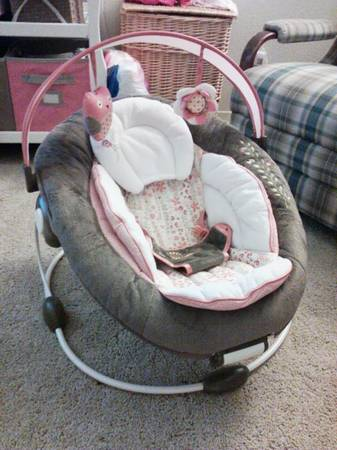 Baby bouncer, carseat cover, clothes and more - $40 (Temple)
