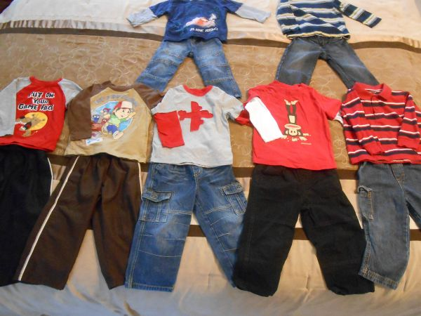 BOYS 2T PANT AND SHIRTFREE SHOES  - $40 (KILLEEN)