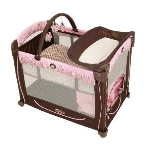 pink and brown pack n play - $1 (killeen)