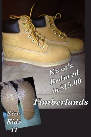 Nwots Boys size 11 Timberland Boots - $15 (Killeen)