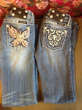 2 pairs Miss Me Jeans kids size 10 - $75 (harker heights)
