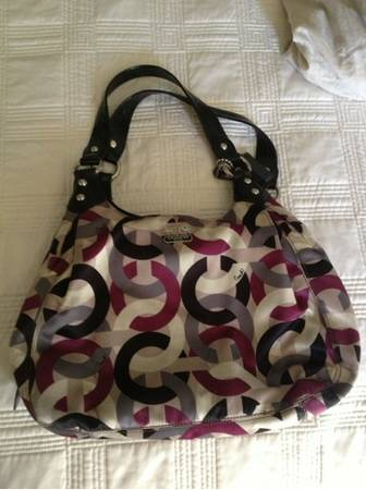 Coach Purse- purple, black, gray, white - $50 (CC)