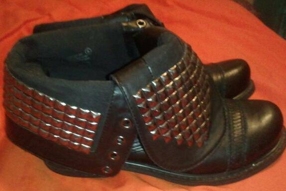 Studded Combat Boots - $40 (Killeen)