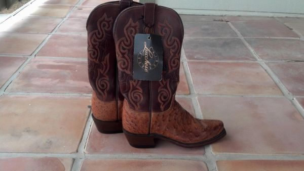 Lucchese ostrich boots  Size 7 LADIES  REAL