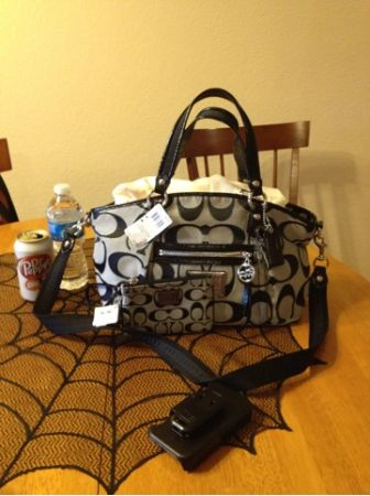 Coach black White purse set - $190 (Killeen )