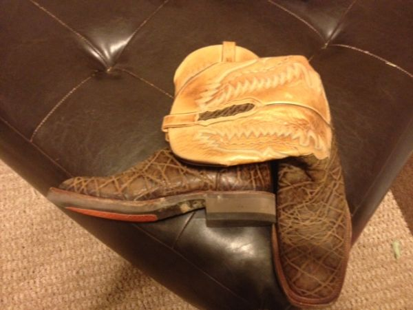 Luchesse Elephant Cowboy Collection Boots Size 10 - $350 (Temple)