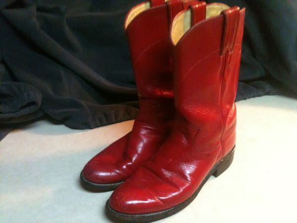 Womens Sz 5 12 RED Boots Justin Ropers MAKE OFFER - $40 (Temple)