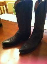 Ladies Lucchese Western Boots - $75