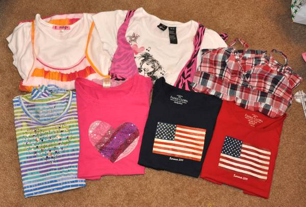 girls juniors short sl. shirts lot - sz 1012, 1416, XL, S, M, L - $1 (Killeen, Tx)