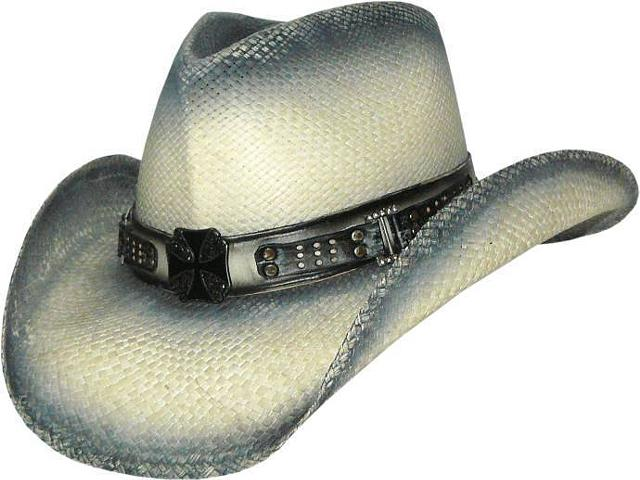 57 95  PALE RIDER Austin Panama Straw Cowboy Hat with Pinchfront Crown