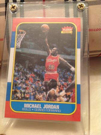 1986-87 fleer Michael Jordan Rookie card -   x0024 450