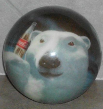 Mint coca cola bowling ball undrilled (Killeen)