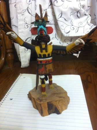 HOPI EAGLE KACHINA DOLL by DUWYEHIE - $300 (Belton)