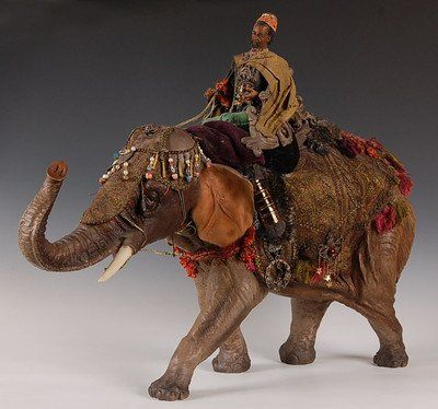 DealereBay Seller Dept. 56 Neapolitan Nativity Elephant with Wiseman - $650 (Round RockCedar Park)
