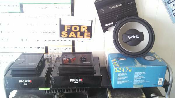 Rockford, Infinity and Pioneer car stereo parts cheap - $1 (Chilton)