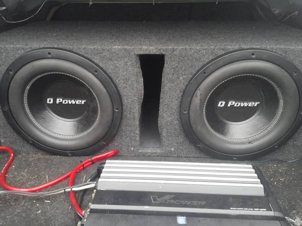 q power subs 12inch 4ohms - $85