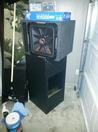 2011 kicker l7 15 1500 watt hifonics  with probox - $650 (killeen, tx)