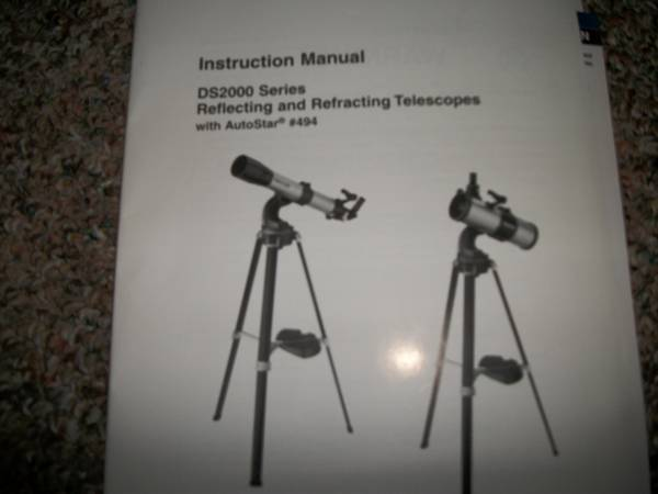 DS 2000 Series Reflecting and Refracting Meade Telescope -   x0024 125  Belton