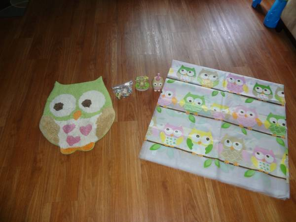 owl bathroom set - $30 (killeen)