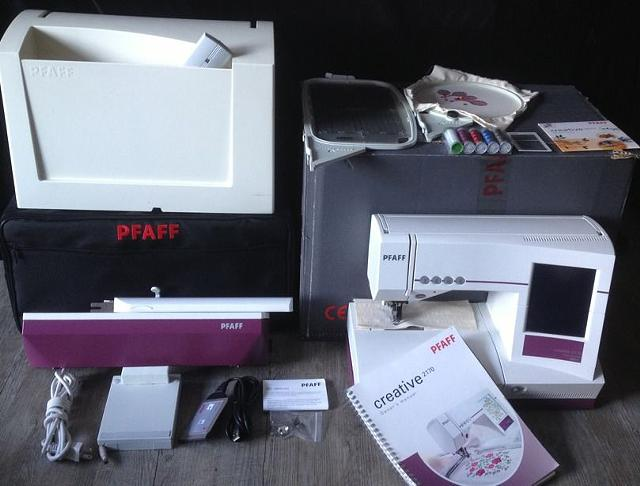 1 800  PFAFF Creative 2170 Embroidery Sewing Machine With Embroidery Unit