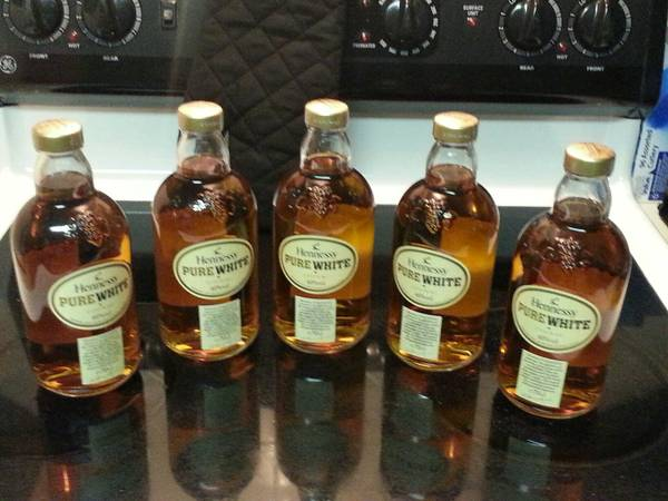 Bottle Candle Holder Whiskey Wine Aged Old..(HENNESSY PURE WHITE) - $150