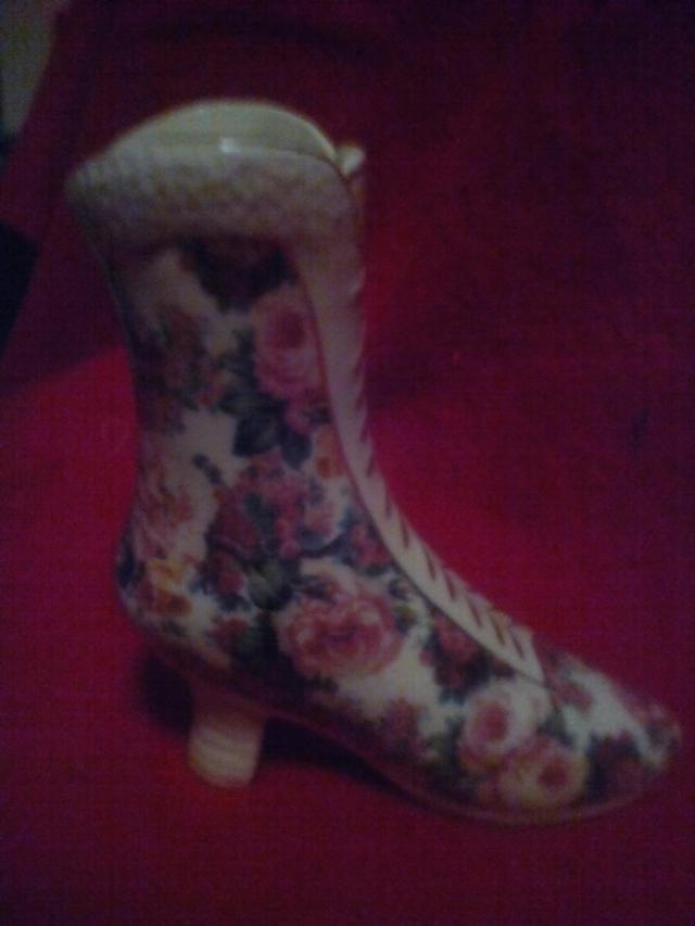 3  Formalities Victorian Floral Boot Vase