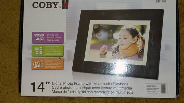 Coby 14  Digital Photo Frame -   x0024 65  CC