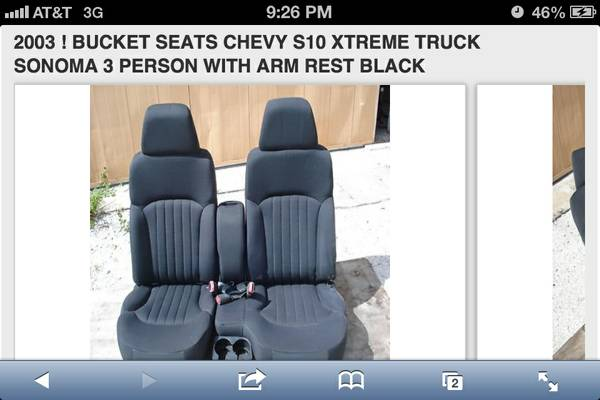 Need a 6040 seat for a s10 pickup